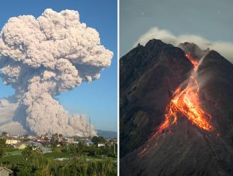 Twee vulkanen in Indonesië spuwen as en gesteente