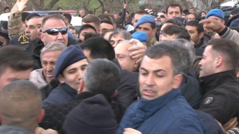 Onrust bij Turkse begrafenis