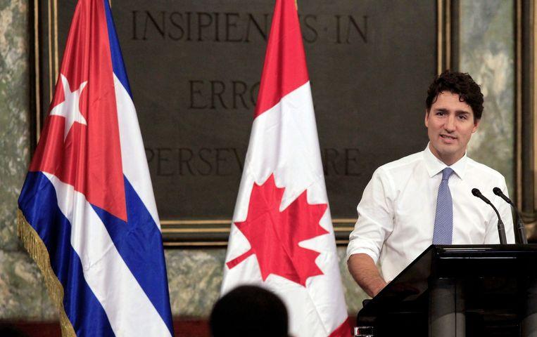De Canadese premier Justin Trudeau tijdens een bezoek aan Cuba in 2016. Beeld AFP
