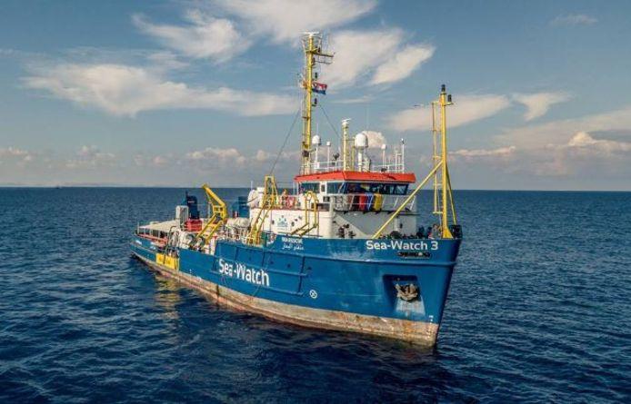 De onder Nederlandse vlag varende Sea-Watch 3.