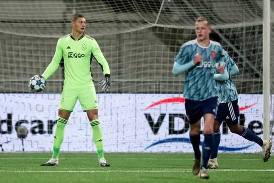 Kjell Scherpen keepte tot op heden alleen nog in Jong Ajax.