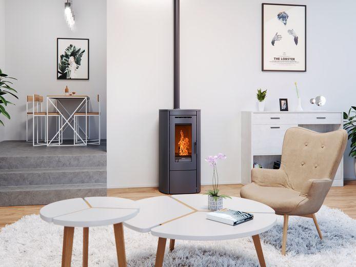 Pelletkachel van de firma Nordic Fire uit 's Heerenberg.