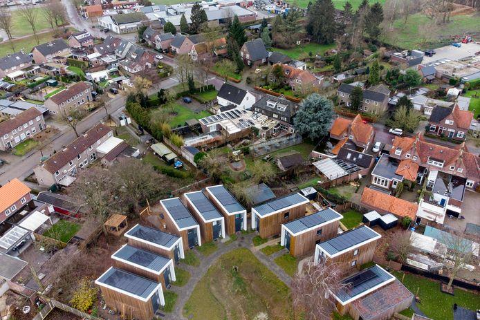 Een voorbeeld van een tiny houses-project, in Aarle-Rixtel.