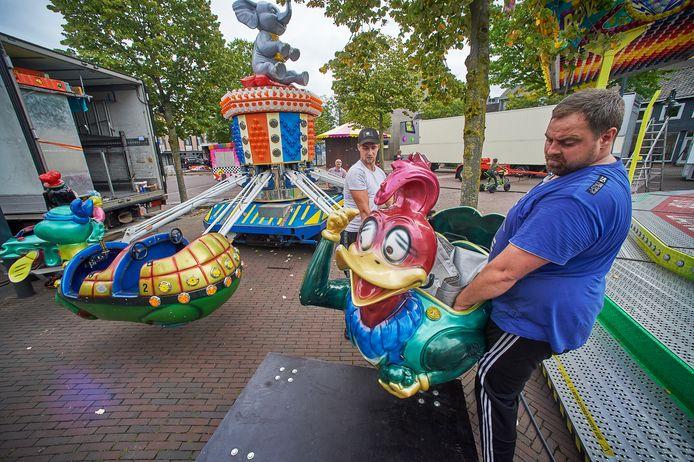 Op het Meijerijplein in Veghel wordt de DisneyFlieger geplaatst