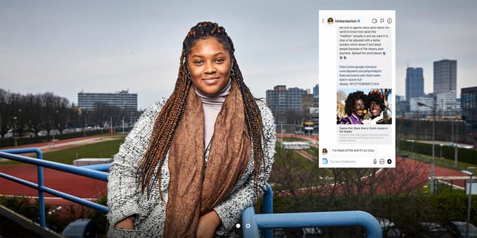 Rotterdamse Ramone krijgt steun van Kim Kardashian tegen Zwarte Piet