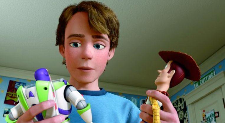 In 'Toy Story 3' gaat Andy naar de universiteit, en staat hij voor de keuze wat hij met zijn oude speelgoed gaat doen. Beeld rv