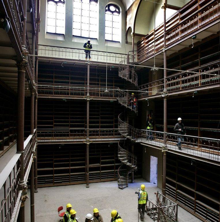 De nog ongevulde historische bibliotheek van het Rijksmuseum Beeld anp