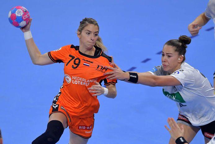Estavana Polman tijdens de EK-wedstrijd tegen Duitsland.