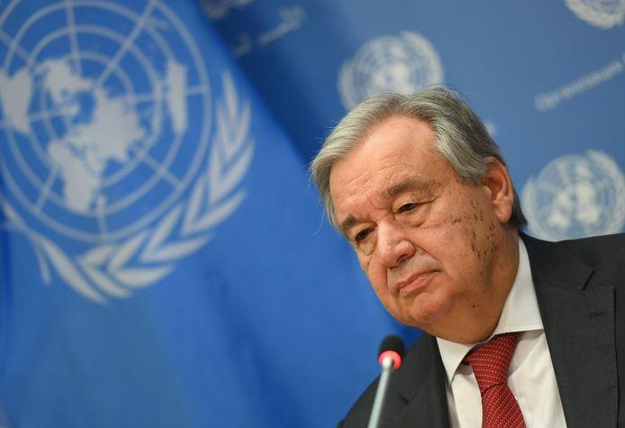 Secretaris-generaal van de Verenigde Naties Antonio Guterres