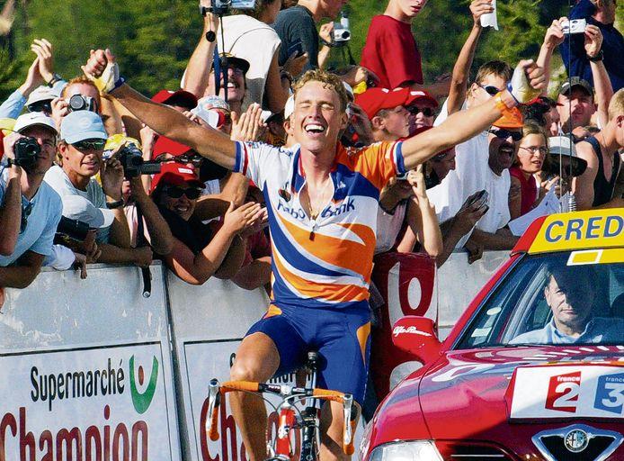Michael Boogerd wint op La Plagne.