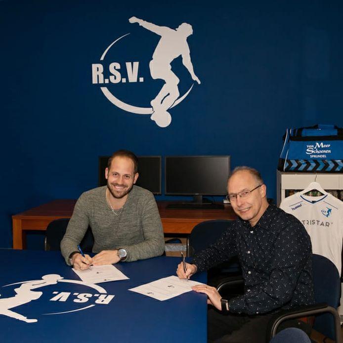 Jaimy van Wortel (links) is de nieuwe trainer van RSV.