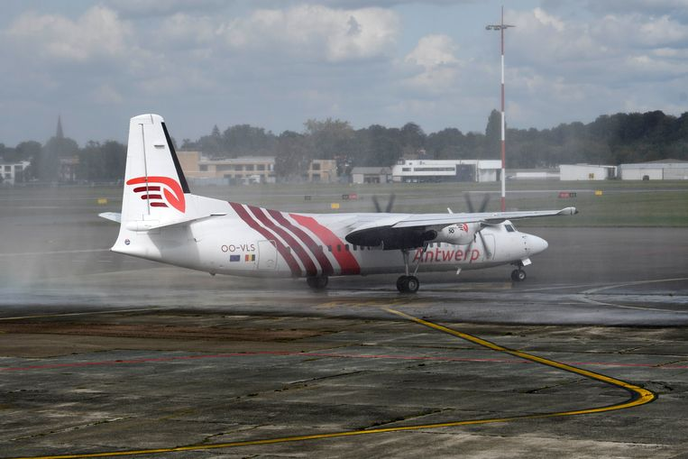 Maandag startte de route van Air Antwerp naar London City.
