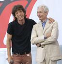 Mick Jagger et Charlie Watts en 2005 à New York.