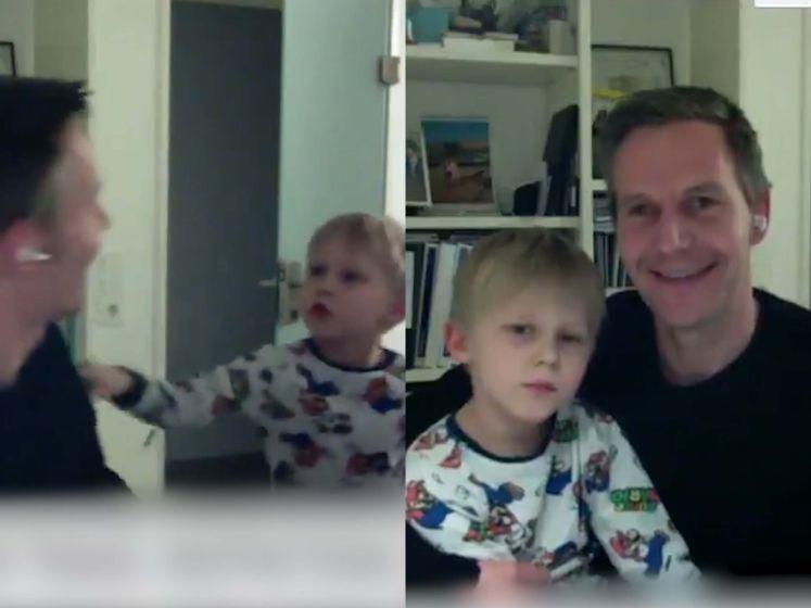 CEO Trivago is live op tv wanneer plots zoontje Victor (8) kamer binnenvalt