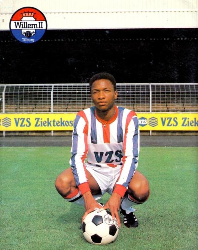 De spelerskaart van Willem II'er Ruben Kogeldans in 1987.