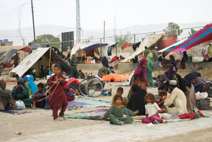 Deze Afghaanse families hebben het wel gehaald tot Chaman.