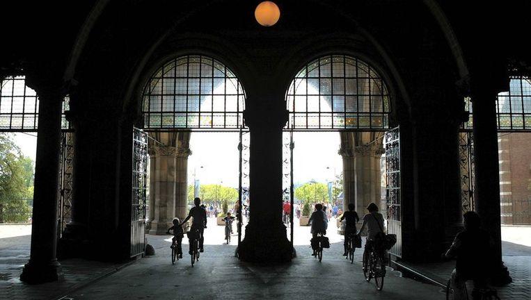 De fietstunnel onder het Rijksmuseum. Beeld anp