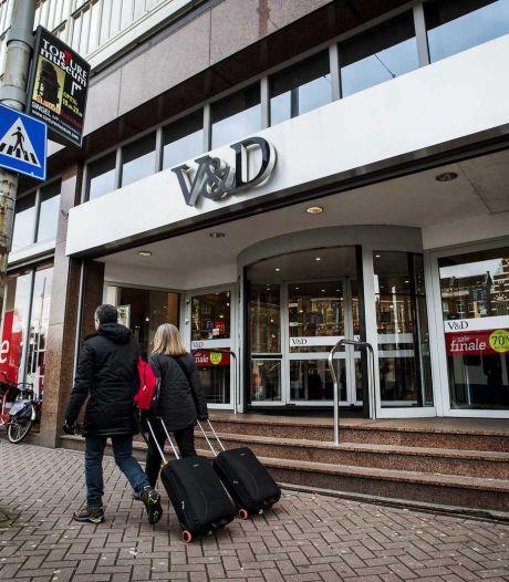 Warenhuis V&D weg uit Kalvertoren in Amsterdam