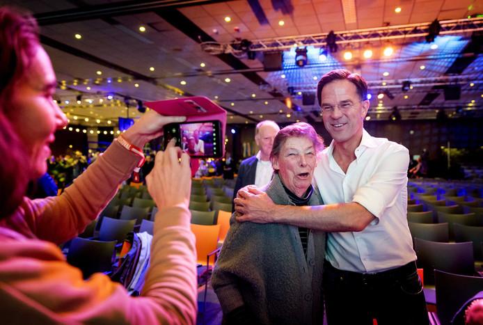 Premier Mark Rutte tijdens de ledenvergadering van de VVD