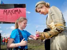 Koningin Máxima die op je gips schrijft, Marilynn (12) uit Elspeet krijgt het voor elkaar