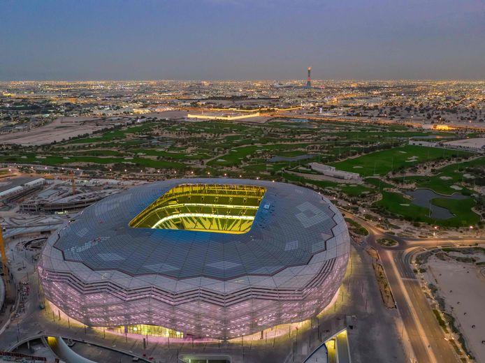 Een van de WK-stadions in Qatar.