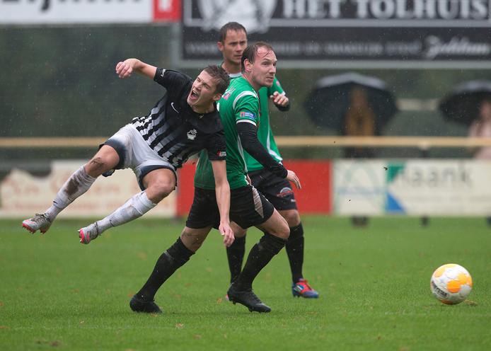 Silvolde-RKZVC werd vorig seizoen in de stromende regen gespeeld.