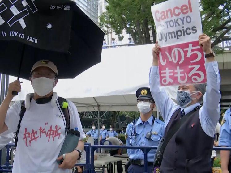 Demonstranten in Tokio eisen afgelasting Olympische Spelen
