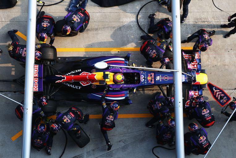 Een van de vier potstops van Mark Webber in Maleisië. Beeld GETTY