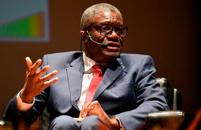 Denis Mukwege, Nobelprijswinnaar voor de vrede in 2018. Beeld AFP