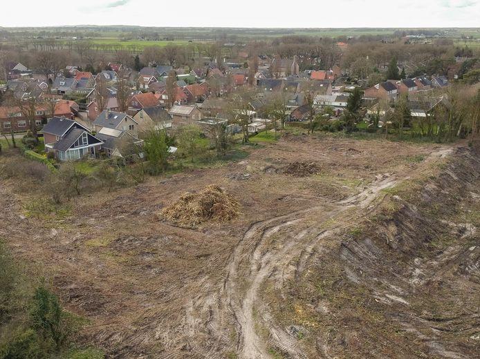 Vorig jaar zijn al bomen gekapt op het Kloosterterrein in Sibculo.