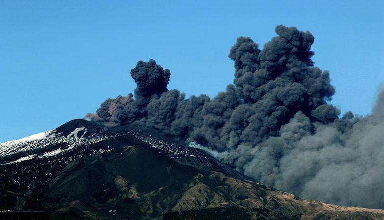 De Etna barstte eergisteren uit.  Beeld AFP