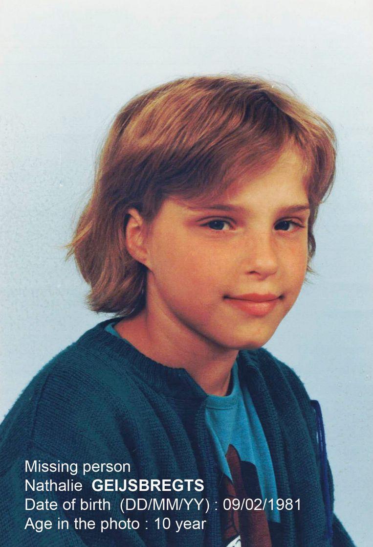 De foto van Nathalie Geijsbregts die door Child Focus werd verspreid. Eric Geijsbregts: