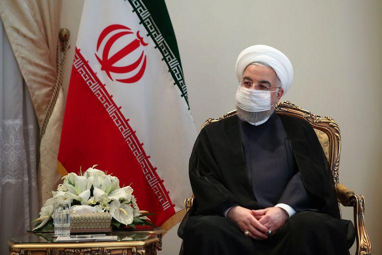 De Iraanse president Hassan Rouhani. Beeld AFP