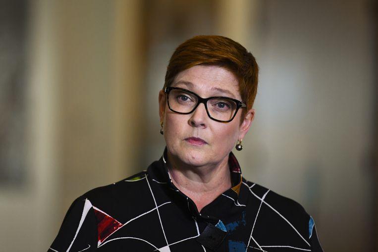 Marise Payne, de Australische minister van Buitenlandse Zaken, noemt de behandeling die vrouwen ondergingen op het vliegveld van Qatar 'verontrustend en weerzinwekkend'.  Beeld EPA
