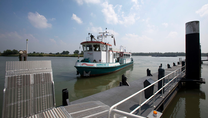 Een veerboot in Gorinchem.