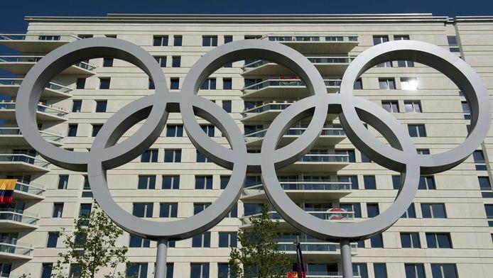 Vue des appartemens dans le village olympique à Londres