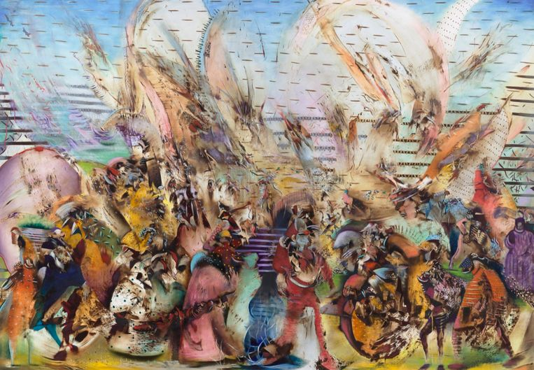 Ali Banisadr: Foreign Lands (2015). Olbricht Collection.  Beeld Courtsey of the artist and Galerie Thaddaeus Ropac