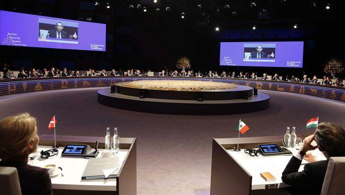 Beeld van op de afgelopen nucleaire top in Den Haag.