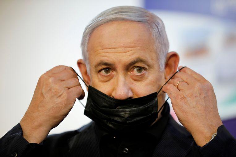 Israëlisch premier kondigde een nieuwe lockdown én een versnelling van de vaccinatiecampagne aan. Beeld REUTERS