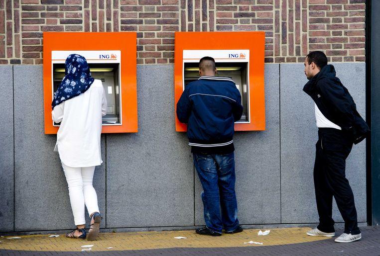 In België blijkt dat 39,5 procent van de meerderjarige klanten bij ING niet digitaal bankiert. Beeld ANP XTRA