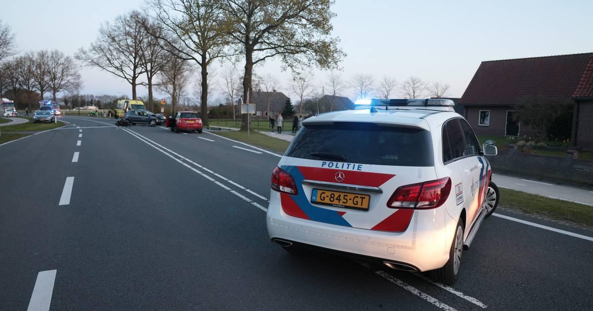 Motorrijder komt om het leven bij ernstig ongeluk met auto bij Den Ham.