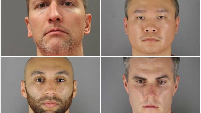 Vier ex-agenten aangeklaagd voor schenden burgerrechten George Floyd