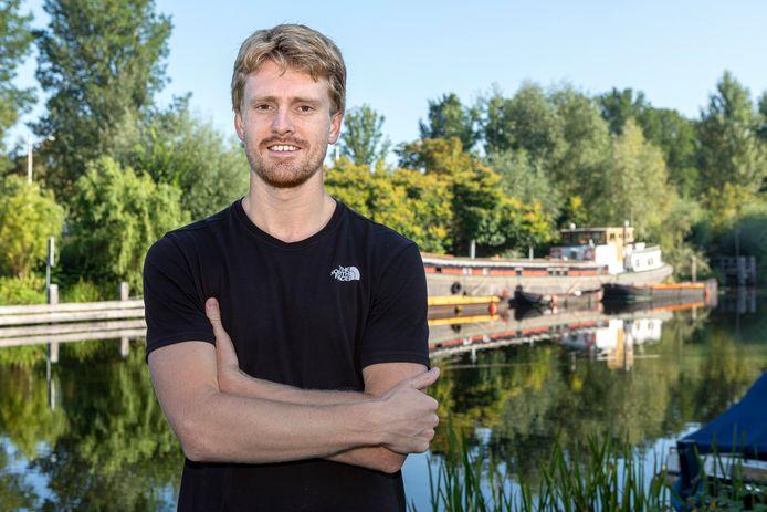 Hockyer Fabian Verzuu van HC Tilburg.