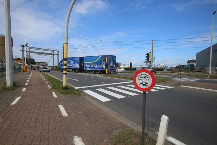 De oude Visartsluis in Zeebrugge.