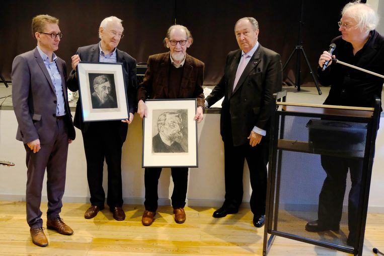 Het Verhaerenmuseum vierde vandaag Paul Servaes en Vic Nachtergaele