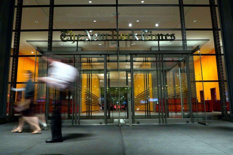 Het hoofdkwartier van 'The New York Times' op Eight Avenue in New York. Beeld BELGAIMAGE