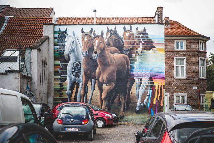 De paarden in de Dampoortbuurt, vlakbij de Centrale