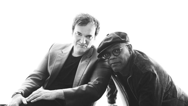 Quentin Tarantino (L) en Samuel L. Jackson. Beeld Getty Images