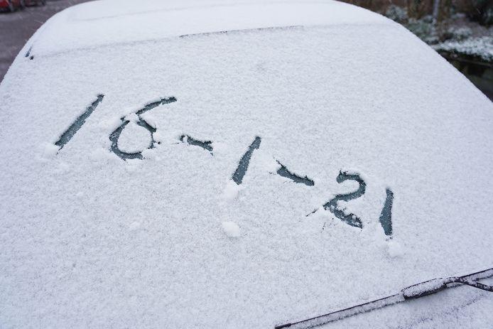 De eerste dag sneeuw.