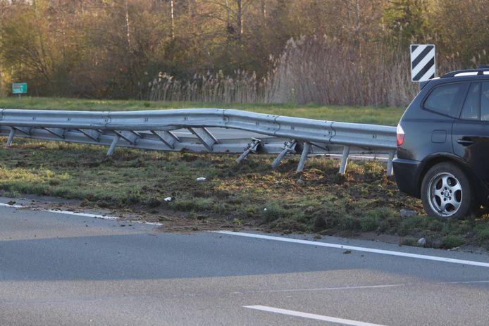 Ongeluk met twee auto's op de A50 bij Sint-Oedenrode.